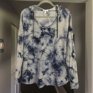 Maurices tie dye hoodie shirt sz Large